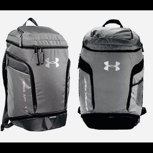 Under Armour Grey Backpack Sports Laptop Bag NEW
